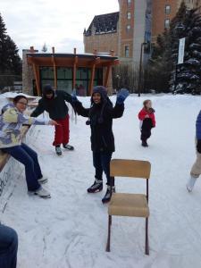 skating - no chair