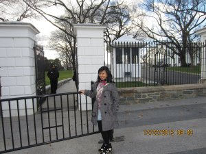 The White House entrance